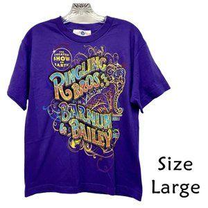 Ringling Bros Circus Purple TShirt Size Large